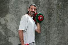 Man lifting dumbbell Royalty Free Stock Photography
