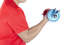 Man lifting a dumbbell Royalty Free Stock Photography