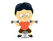 Man lifting dumbbells royalty free illustration