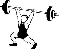 Man Lifting Weight Stock Photo