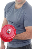 Man lifting weight Royalty Free Stock Images