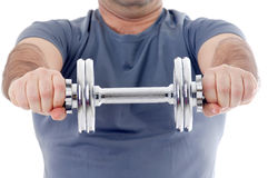 Man lifting weight Royalty Free Stock Photo