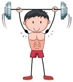 Man lifting weight alone Royalty Free Stock Photography