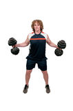 Man Lifting Weight Royalty Free Stock Photography