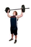 Man Lifting Weight Stock Photo