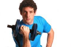 Man lifting weights Stock Image