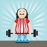 Man lifting weights Royalty Free Stock Images