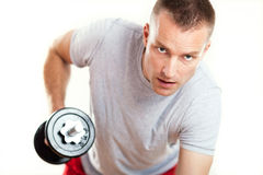 Man Lifting Weights Stock Photos