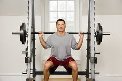 Man Lifting Weights Stock Image
