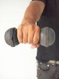 Man lifting weights Stock Photo