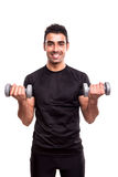 Man lifting weights Stock Photography