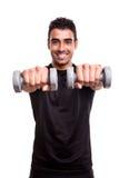 Man lifting weights Royalty Free Stock Photo