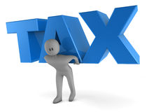 Man Lifting The Word TAX Royalty Free Stock Photography
