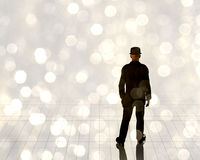 Man in light Royalty Free Stock Photography