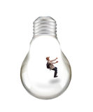Man in light bulb Royalty Free Stock Image
