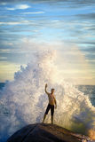 Man like a god of the sea Stock Image