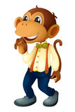Man-like monkey. On a white background Royalty Free Stock Photos