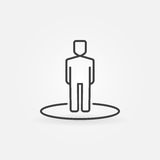 Man line icon Royalty Free Stock Images