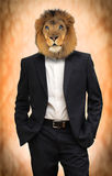 Man with lion head Stock Photo