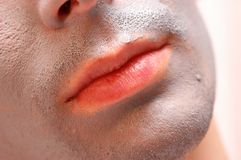 Man lips Stock Images