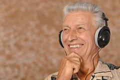 Man listen music Stock Image