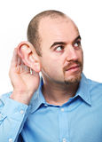 Man listen pose Royalty Free Stock Photo