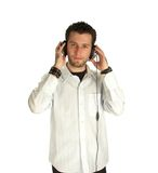 Man listening Stock Photos