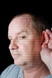 Man Listening royalty free stock image