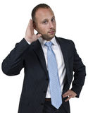 Man listening carefully Royalty Free Stock Photos