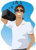 Man listening music Royalty Free Stock Image