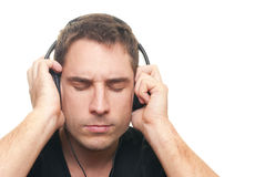 Man listening the music Royalty Free Stock Photography