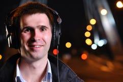 Man is listening music Royalty Free Stock Photos
