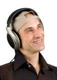Man listening music Stock Image