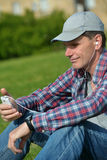 Man listening music Royalty Free Stock Photography
