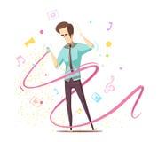 Man Listening Music Design Concept Stock Photos