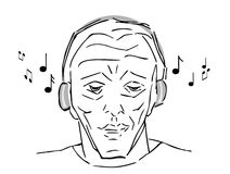 Man listening music Royalty Free Stock Images