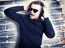 Man listening music. Royalty Free Stock Photography