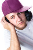 Man listening music Royalty Free Stock Photos