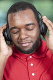 Man listening to Headphones Royalty Free Stock Image