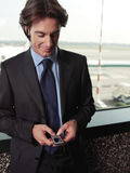 Man listening to mp3 player lty Royalty Free Stock Photos