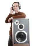 Man Listening To Music Stock Image