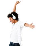Man listening to music Royalty Free Stock Images