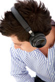 Man listening to music Stock Image