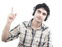 Man listening to music Royalty Free Stock Photos