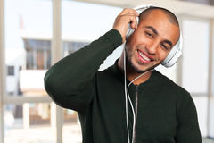 man is listening to music Stock Images