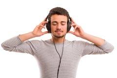 Man listening to music Stock Photos