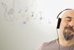Man listening to the music Royalty Free Stock Image
