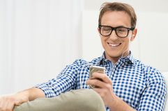 Man Listening To Music Stock Photos