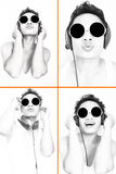 Man Listening To Music Series Royalty Free Stock Photography