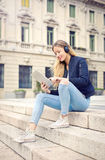 Man listening to music Stock Images